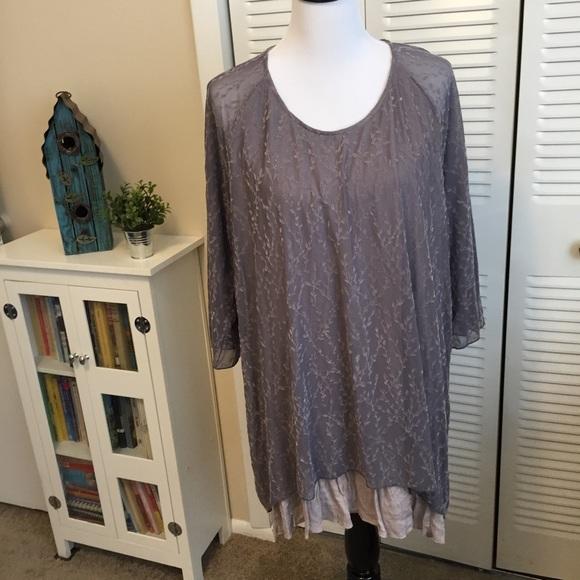 d76cc42cc54 indigo soul Tops - 4/$25 Indigo Soul purple semi-sheer layered tunic
